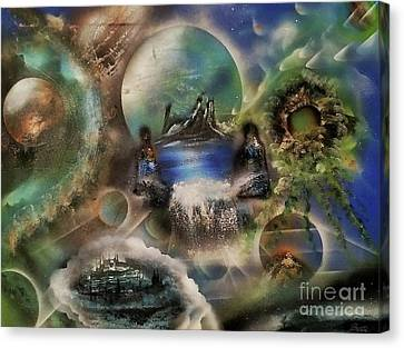 Guardians Of The Worlds Canvas Print