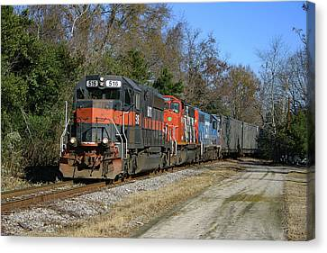 Canvas Print featuring the photograph Hatx 516 Train Color by Joseph C Hinson Photography