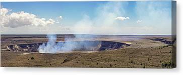 Hawaii Hale Ma'uma'u Volcano Crater Canvas Print