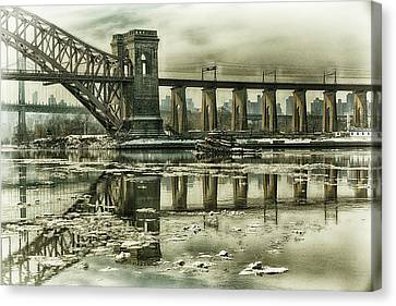 Hell Gate Reflections Canvas Print