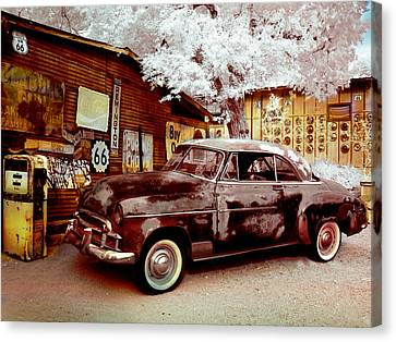 Canvas Print featuring the digital art Highsmith Old Car by Robert G Kernodle