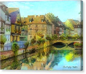 Historic Village On The Rhine Canvas Print