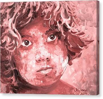 Holi Boy. Red. Canvas Print