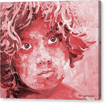 Holi Boy. Red. 4 Of 6  Colorful And Monochromatic Series. Canvas Print