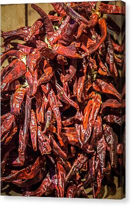 Hot Spicy Peppers Canvas Print