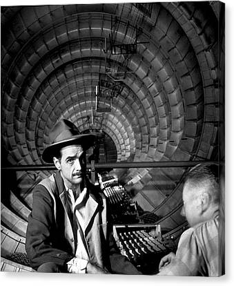Art print POSTER Canvas Howard Hughes Seated Reading Papers