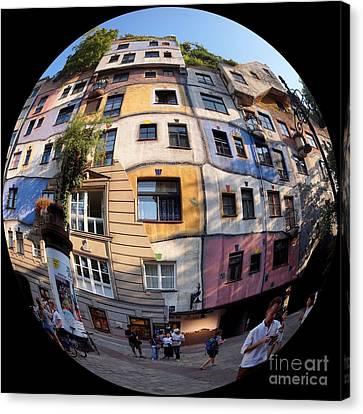 Hundertwasser House Vienna 1 Canvas Print