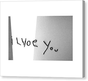 'i Lvoe You' Canvas Print