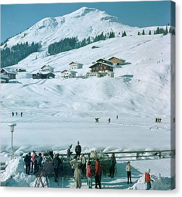 Ice Bar In Lech Canvas Print