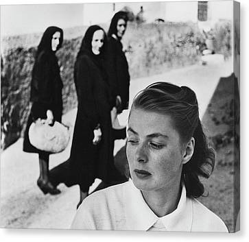 Ingrid Bergman In Italy For Stromboli Canvas Print by Gordon Parks