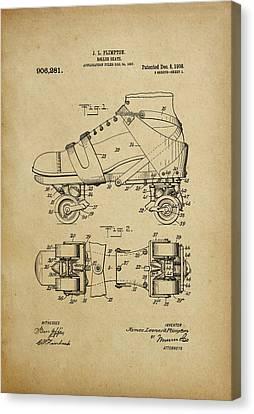 J. L. Plimpton, Roller Skate, Patented Dec.8,1908. Canvas Print