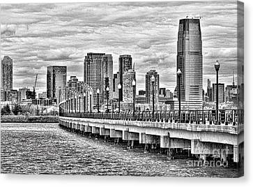 Jersey City Skyline Canvas Print
