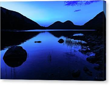 Jordan Pond At Nightfall Canvas Print