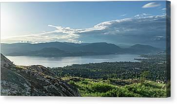 Kelowna And Okanagan Lake Canvas Print