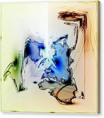 Canvas Print featuring the digital art Kooky Abstract by Robert G Kernodle