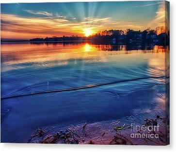 Lake Norman Winter Sunset Canvas Print