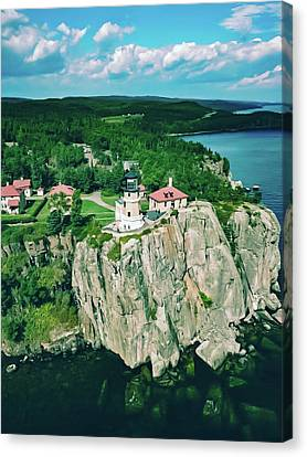 Lake Superior Lighthouse Canvas Print