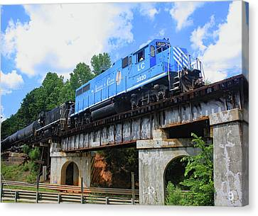 Canvas Print featuring the photograph Lancaster Chester Railroad 3820 Color 10 by Joseph C Hinson Photography