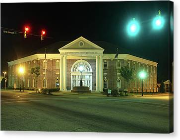 Canvas Print featuring the photograph Lancaster County Administration Building 2016 Night by Joseph C Hinson Photography