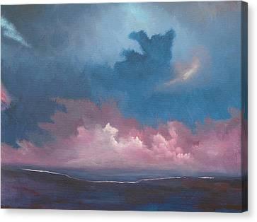 Land Meets The Sea Canvas Print