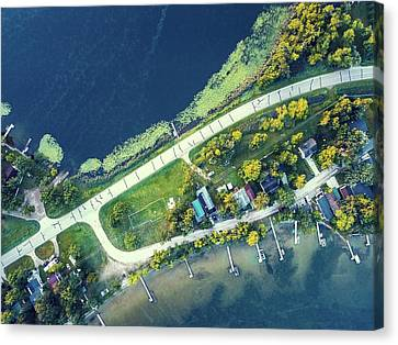 Leaf Lakes, Mn Hwy 108 Canvas Print