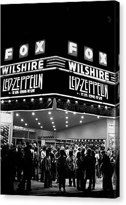 Led Zeppelin Song Remains The Same Canvas Print by Michael Ochs Archives