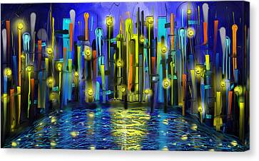 Life In The Night Canvas Print