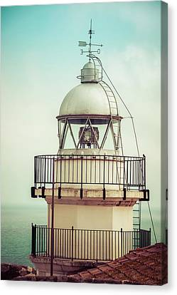 Lighthouse In Peniscola Canvas Print
