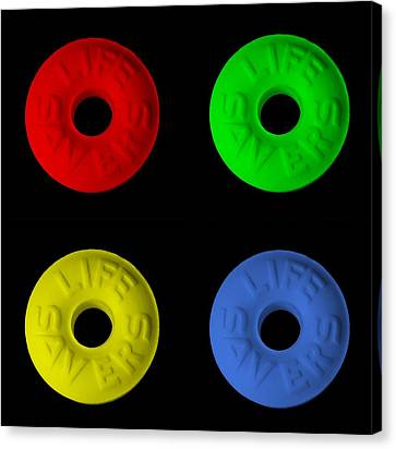 Life Savers In Quad Colors Canvas Print