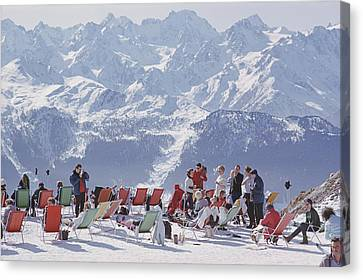 Lounging In Verbier Canvas Print