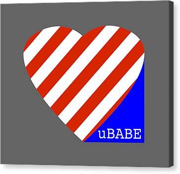 Love Ubabe America Canvas Print