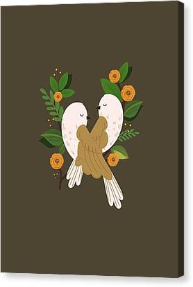 Lovebirds  Canvas Print
