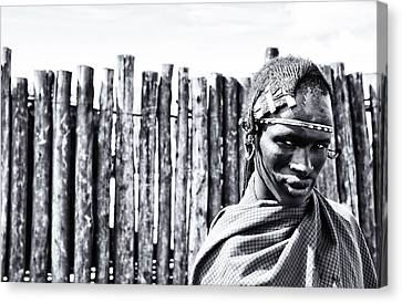 Maasai Man Ngorongoro Conservation Area Tanzania Canvas Print