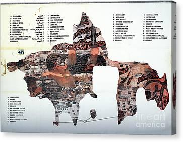 Madaba Map Jordon Canvas Print