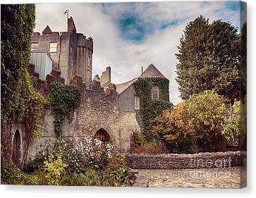 Canvas Print featuring the photograph Malahide Castle By Autumn  by Ariadna De Raadt