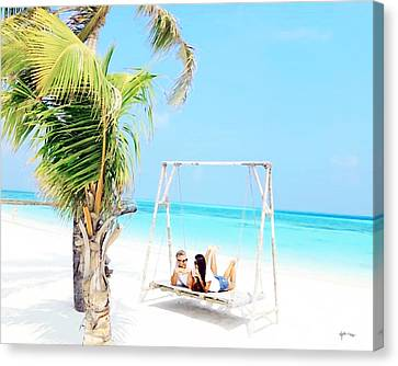 Maldives,picture You In Summertime Canvas Print