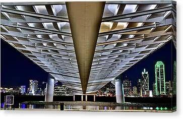 Margaret Hunt Hill And City From Underneath Canvas Print