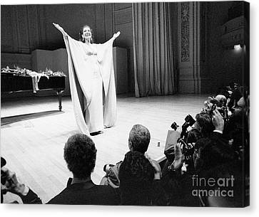 Canvas Maria Callas on Stage Art print POSTER