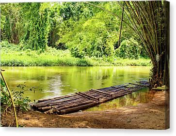 Martha Brae River Bamboo Rafting Canvas Print