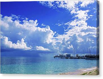 Massive Caribbean Clouds Canvas Print