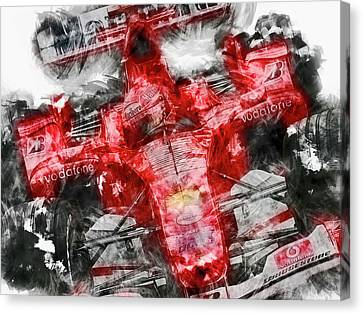 Michael Schumacher, Ferrari - 23 Canvas Print