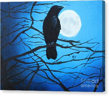 RAVEN MOON 8X10 Bird Crow Raven print by Artist Sherry Shipley