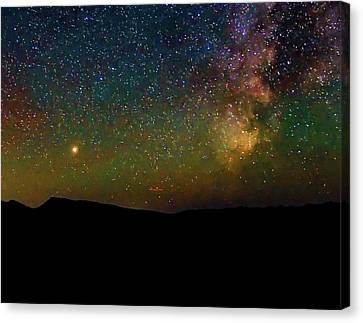 Milky Way And Mars Canvas Print