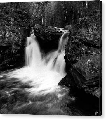 Canvas Print featuring the photograph Mill Falls Monochrome by Wayne King