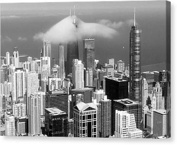Mist Over Chicago Canvas Print