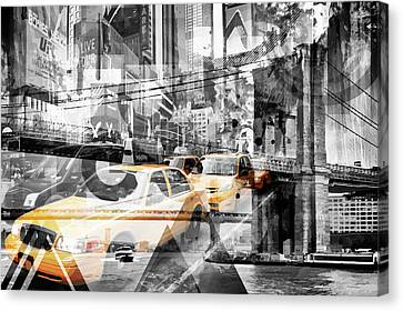 Modern Art Nyc Collage Canvas Print