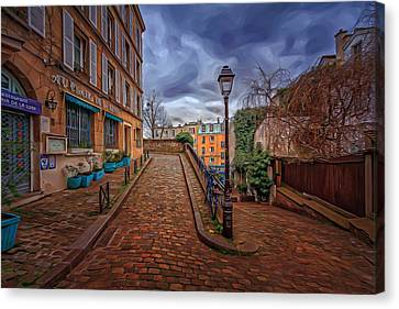 Montmartre Path Canvas Print