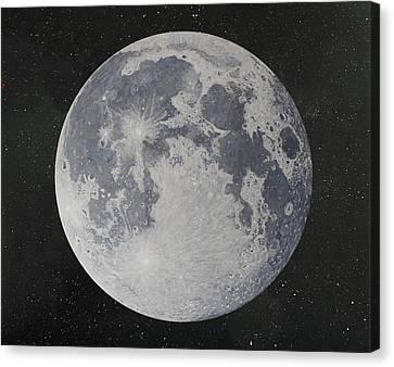 Moon Painting Canvas Print