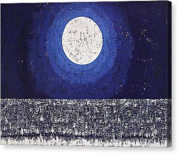 Moonbathing Original Painting Canvas Print