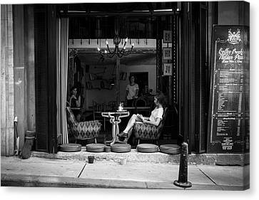 Street Photography - Morning Chill Canvas Print